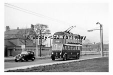 pt9734 - Doncaster Trolleybus 376 at Race Course in 1955 - photograph