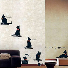 Home Family Removable Black Cats Room Wall Sticker Paper Mural Art Decal Decor