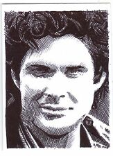 ACEO Sketch Card David Hasselhoff as Michael Knight from Knight Rider TV Series