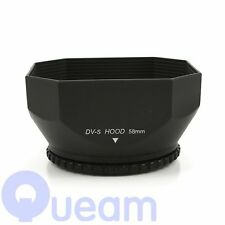 58mm Square Screw-in DV Camcorder Lens Hood  with Cap  for SONY JVC CANON