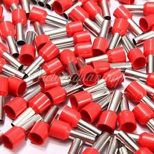 100 Stück Aderendhülsen Set isoliert Aderendhülse Kabelverbinder AWG 8 Rot
