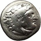 Alexander III the Great as Hercules Ancient Silver Greek Coin 322BC Zeus i39145