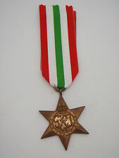 Genuine WW2 Italy Star Medal - Full Size