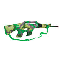 "36"" INFLATABLE BLOW UP CAMOUFLAGE FANCY DRESS RIFLE GUN WITH STRAP - NOVELTY TOY"