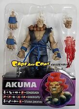 "SOTA Toys Street Fighter Round 4 SHIN AKUMA WHITE HAIR & BLUE GI Loose 6"" Figure"