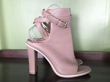 BRUNELLO CUCINELLI Nude Leather Open Toe Ankle Booties Boots Shoes 39