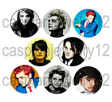 8 piece lot of Gerard Way pins buttons badges