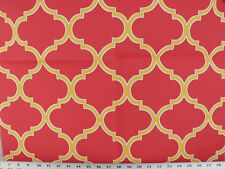 Drapery Upholstery Fabric Indoor/Outdoor Traditional Design - Yellow/Ivory/Red