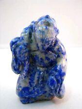 Netsuke Lapislazuli China Figur Lapis Lazuli Chinese Figure Figurine - 3