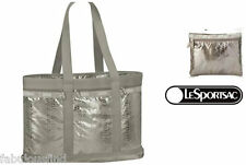 LeSportsac Magnetic Snake Travel Tote & Cosmetic Bag Iridescent NWT Free Ship