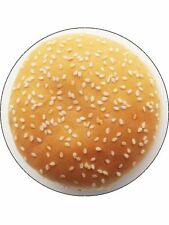 "Novelty Burger Bun Top 7.5"" Edible Wafer Paper Cake Topper"