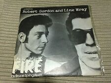 "ROBERT GORDON & LINK WAY SPANISH 7"" SINGLE SPAIN FIRE ROCK N ROLL SPRINGSTEEN"