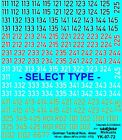 1/72 1/80 1/100 4mm tall Decals German WWII Tank AFV Tactical Numbers YK-07-72