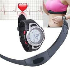 Fitness Pulse Heart Rate Monitor Watch & Chest Strap Pedometer Counter Backlight