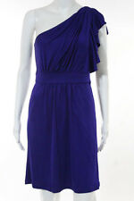 Laila Azhar Purple Stretch One Shoulder Above Knee Length Dress Size Medium