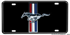 Red White Blue Ford Mustang Emblem  Aluminum License Plate