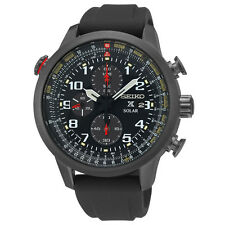 Seiko SSC371 Prospex Solar Chronograph Black Ion Stainless Men's Watch