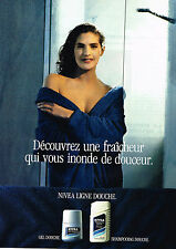 PUBLICITE ADVERTISING 074  1989  NIVEA   gamme gel douche shampoing