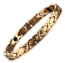 Stainless Steel Gold Plated Magnetic XOXO Bracelet