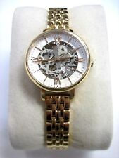 Fossil ME7072 Jacquenile Rose Gold Tone Skeleton Ladies Watch Pre Owned