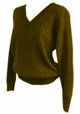 New Women ladies gorgeous knitted cable khaki jumper top size  18