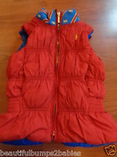 GIRLS RALPH LAUREN BLUE & RED DOWN REVERSIBLE GILET BODYWARMER COAT 3 YEARS