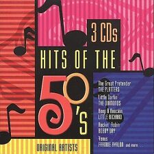 Original Artists Hits of the 50's [Box] by Various (CD,2000, 3 Discs) NEW SEALED
