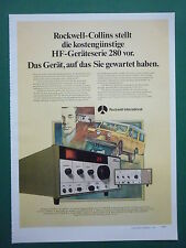 7/1978 PUB ROCKWELL COLLINS RADIO HF GERATESERIE 280 LAND ROVER GERMAN AD