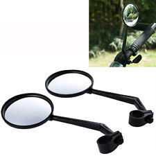 2Pcs Cycling Bike Bicycle Handlebar Flexible Safe Rear View Rearview Mirror New