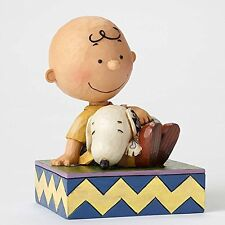 4049397 HAPINESS IS SNUGGLING CHARLIE BROWN PEANUTS  SHORE ENESCO DISNEY