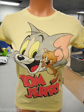 Womens Licensed Tom and Jerry Cartoon Shirt New S