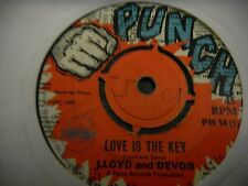 """Lloyd And Devon 7""""  Love Is The Key   The Virtues   High Tide ORIG PUNCH KILLER"""