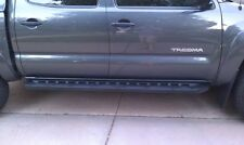 NEW OEM TOYOTA TACOMA DOUBLE CREW CAB BLACK RUNNING BOARDS 2005 - 2013