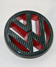 VW Golf 5 V GTI Turbo  Logo Zeichen Emblem  Black echt Carbon Rot