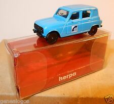 MICRO HERPA HO 1/87 RENAULT 4 BERLINE 4L R4 FRANCE TELECOM TELEKOM IN BOX