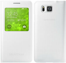 Original Samsung S VIEW FLIP CASE Galaxy ALPHA SM G850F smartphone book cover