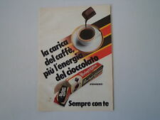 advertising Pubblicità 1984 FERRERO POCKET COFFEE