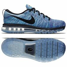 Nike Flyknit Air Max 620469-104 White/Blue/Concord/Black Men's Shoes Size 10.5