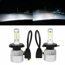 H4 LED Headlight Conversion 8000LM 80W COB 6500K White Light Bulbs Waterproof