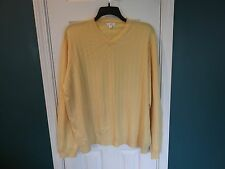 EUC mens XXL yellow long sleeve sweater, made in madagascar.  feels very very so