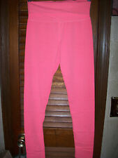 Popular basics~NWT's sz S  Hot coral stretch fold waist skinny leg Yoga pants