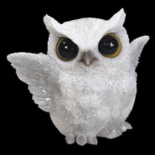 BRAND NEW FLAPPING SNOWY OWL GARDEN ORNAMENT