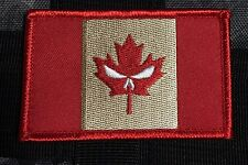Punisher CANADA ARMY FLAG PATCH COMBAT MORALE MILITARY RED leaf MILSPEC ACU