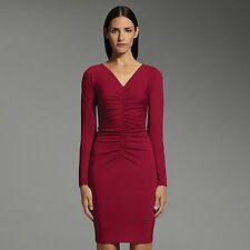 Narciso Rodriguez for DesigNation ruched-front red dress sz. M - so flattering!