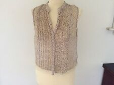 Ladies Sheer Button Down top by TOPSHOP size 12