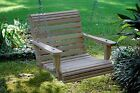 2ft Cypress Wood Wooden Roll Contoured Seat Porch Tree Yard Swing Made In USA