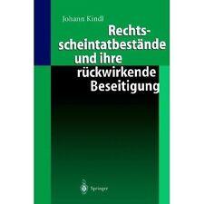 Rechtsscheintatbestände und Ihre Rückwirkende Beseitigung by Johann Kindl...