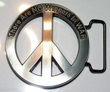 Peace Symbol buckle No Winners in War Ban the bomb CND Design to fix to own belt