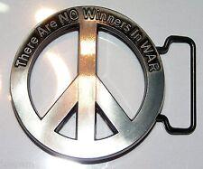 Fibbia Simbolo Pace senza vincitori IN GUERRA LA BOMBA Ban CND design per sistemare a proprio cintura