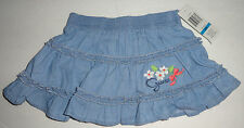 NEW BABY GUESS SOFT DENIM SKIRT 24 MONTHS BLUE GIRLS AUTHENTIC